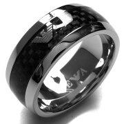 エンポリオアルマーニ リング【指輪】 アクセサリー メンズ イーグルマーク 23号 シルバー&ブラック EGS1602040514 205 EMPORIO ARMANI