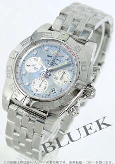 Breitling Wind Rider chronomat 41 diamond index chronometer グレーシェル & silver men's A014G12PA