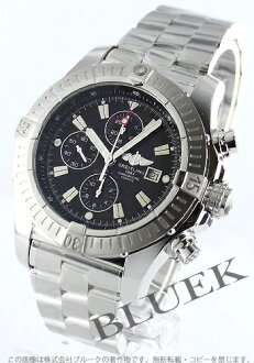 Breitling aeromarine スーパーアベン Messenger chronograph black mens A337B07PRS