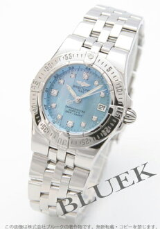 Breitling Wind Rider star liner 11 P diamond light blue shell Womens A710C94PA