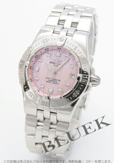 Breitling Wind Rider star liner 11 P Diamond Pink shell Womens A710K12PA