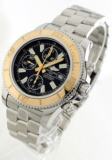 Breitling superocean chronometer chronograph black mens C109B84PRS (C1334112)