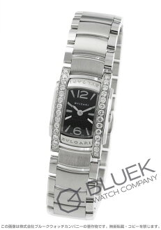 Bulgari asham D DIA bezel black ladies mini AA26BSDS