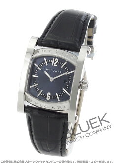 Bulgari asham alligator leather black / Navy ladies AA39C14SLD
