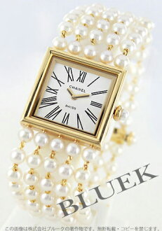 Chanel Mademoiselle YG pure gold Pearl White ladies H0007