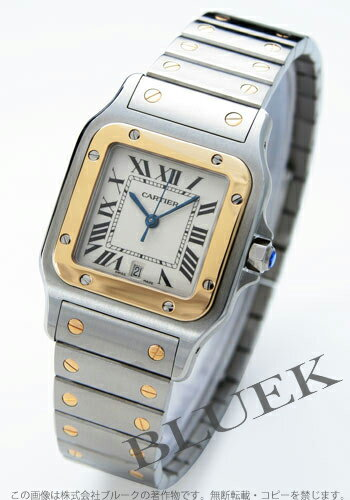 Cartier サントスガルベ LM YG Combi silver mens W20011C4
