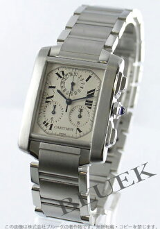 Cartier Francaise クロノリフレックス LM chronograph white mens W51001Q3