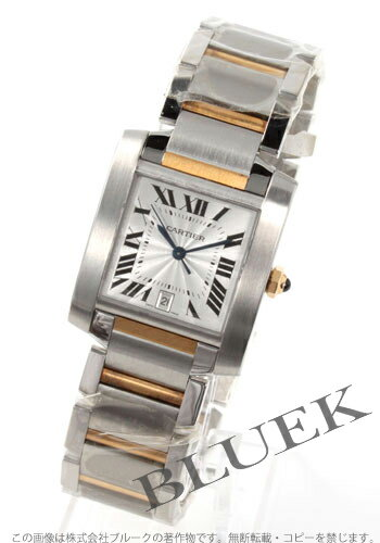 カルティエタンクフランセーズ LM YG combination silver men self-winding watch W51005Q4