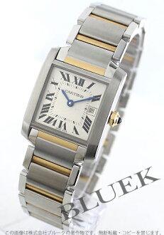 カルティエタンクフランセーズ MM YG combination silver Boys W51012Q4