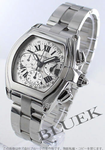 Cartier Roadster chronograph automatic silver Roman men's replacement belt with W62006X6