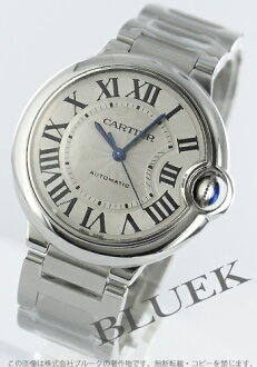Cartier Ballon blue MM automatic silver boys W6920046