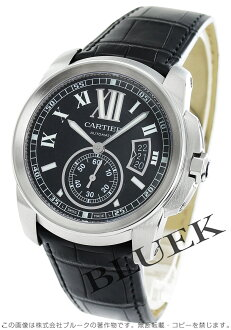 Cartier カリブル de Cartier LM automatic alligator leather black mens W7100041
