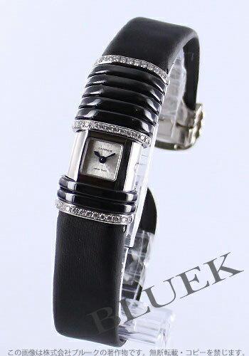 カルティエ デクラレーション WG&セラミック ダイヤモンド サテンレザーブラック/シルバー レディース WT000550