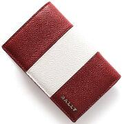 バリー BALLY カードケース LERYT BOLD バリーレッド&ホワイト LERYTBOLD 06 メンズ