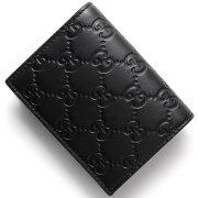 グッチ GUCCI カードケース/お札入れ グッチシグネチャー ブラック 410120 CWC1G 1000 メンズ