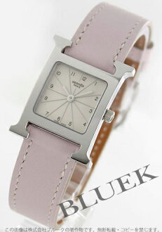 Par Hermes H watch leather Pink / Silver ladies HH1.210.260/WRP