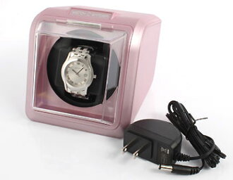 Watch winder (ワンディングマ scenes) with adapter purple