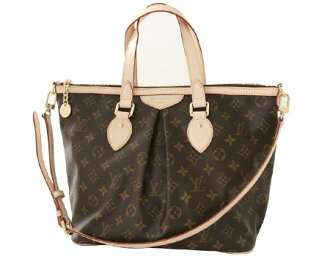 Louis Vuitton LOUIS VUITTON Monogram Palermo PM handbag dark brown M40145