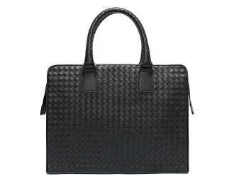 ボッテガヴェネタ BOTTEGA VENETA calf-leather business bag black 194669
