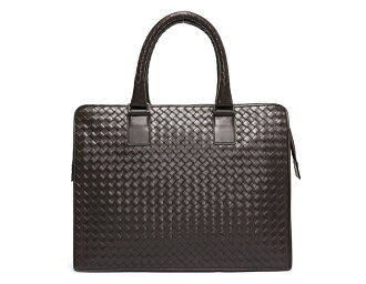 Bottega Veneta BOTTEGA VENETA calf leather business bag dark brown 194669