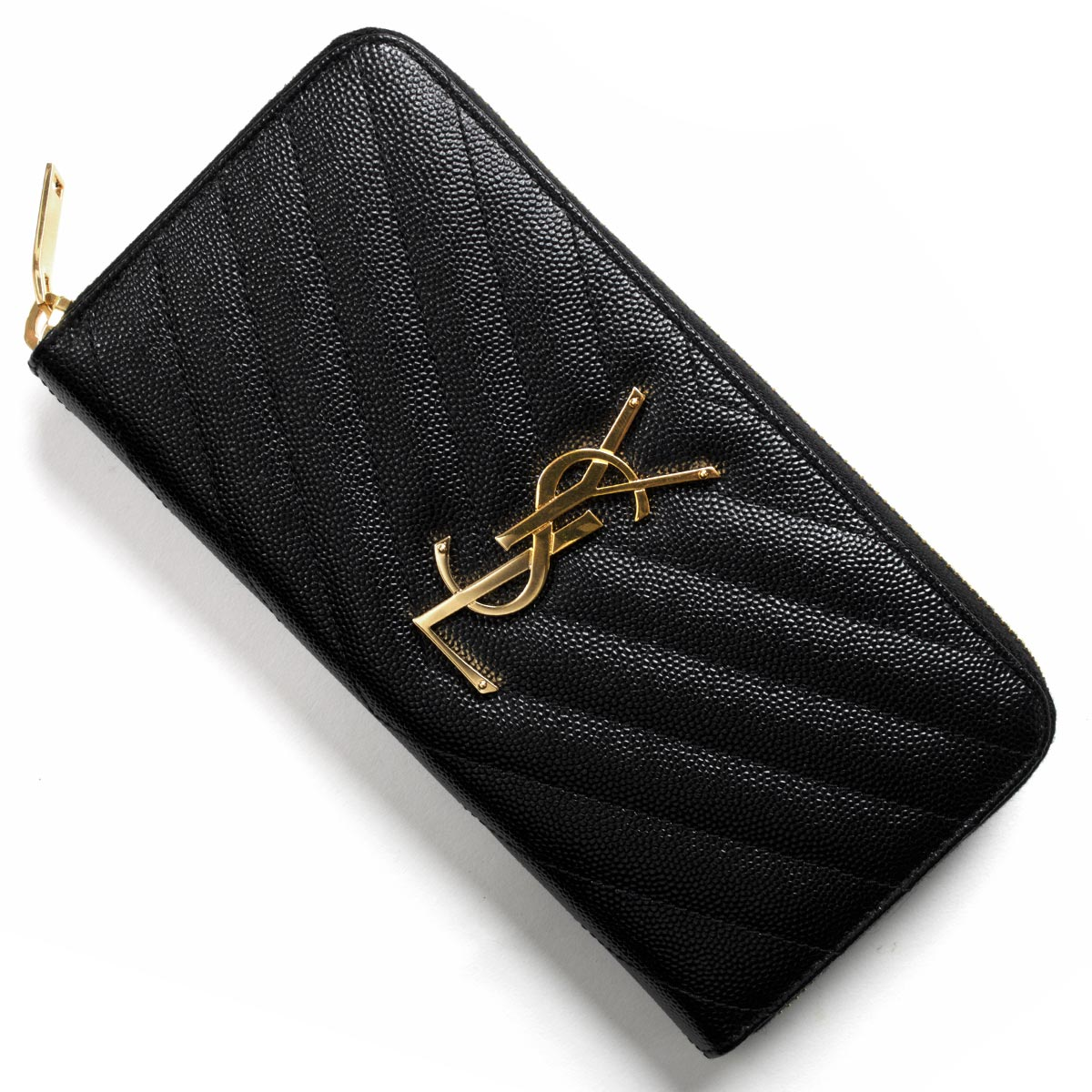yves monogram saint laurent zip around wallet