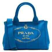 プラダ PRADA ハンドバッグ/ショルダーバッグ カナパ 【CANAPA】 三角ロゴプレート アズーロブルー 1BG439 ZKI F0013 レディース
