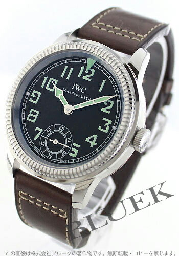 IWC pilot's watch hand-rolled leather brown / black men's IW325401