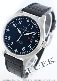 IWC pilot's watch mark XVII automatic alligator leather black mens IW326501