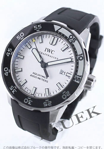 IWC aquatimer automatic 2000 m waterproof diver rubber black / white men's IW356811