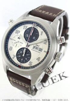 IWC Spitfire automatic chronograph Leather Brown/silver & gray mens IW371802