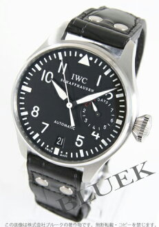 IWC big pilots automatic crocodile leather black mens IW500401