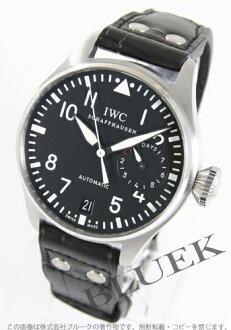 IWC big pilots automatic crocodile leather black mens IW500401