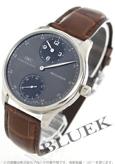 IWC Portuguese regulator WG pure gold hand-rolled Leather Brown / grey mens IW544404
