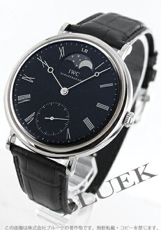 IWC vintage collection Portofino hand wound Moon leather black mens IW544801