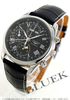 Jin Ron master collection automatic chronograph moon phase alligator leather black men L2.673.4.51.8