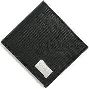 ブルガリ BVLGARI 二つ折財布 ミレリゲ 【MILLERIGHE】 ブラック 25541 メンズ