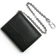 ブルガリ BVLGARI 二つ折財布 オクト 【OCTO】 ブラック 36971 メンズ