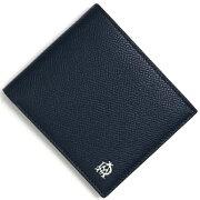 ダンヒル dunhill 二つ折財布 ボードン 【BOURDON】 ネイビー&グリーン L2X232 N メンズ