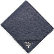 プラダ PRADA 二つ折財布 サフィアーノ メタル 【SAFFIANO METAL】 バルティコブルー 2MO738 QME F0216 メンズ
