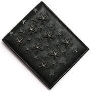 ジミーチュウ JIMMY CHOO 二つ折財布【札入れ】 スタースタッズ ブラック&ガンメタル MARK BLS メンズ レディース