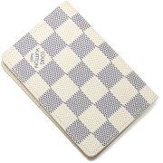 ルイヴィトン LOUIS VUITTON カードケース【名刺入れ】 ダミエアズール ホワイト N63144 レディース