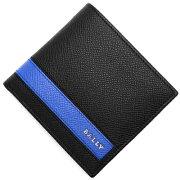 バリー BALLY 二つ折財布 LYITEL ブラック&ブルー LYITEL 340 メンズ
