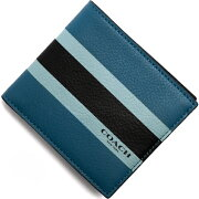 コーチ COACH 二つ折財布 ヴァーシティ デニムブルー F75137 DEN メンズ