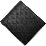 エンポリオアルマーニ EMPORIO ARMANI 二つ折財布 PORTAFOGLIO LOGATO ブラック YEM122 YC043 80001 メンズ