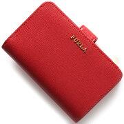 フルラ FURLA 二つ折財布 バビロン 【BABYLON】 ルビーレッド PN12 B30 RUB レディース