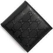 グッチ Gucci 二つ折財布 GGインプリメ 【GG IMPRIME】 ブラック 365467 FU49R 1000 メンズ