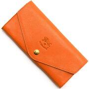 イルビゾンテ IL BISONTE 長財布 オレンジ C0939 P 166 メンズ レディース