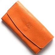 イルビゾンテ IL BISONTE 長財布 スタンダード 【STANDARD】 オレンジ C0973 P 166 メンズ レディース