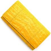 本革 Leather 長財布 クロコダイル 【CROCODILE】 フェリーイエロー R50003 FER メンズ レディース