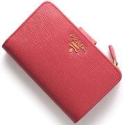 プラダ PRADA 二つ折財布 VITELLO MOVE ペオニアピンク 1ML225 2EZZ F0505 レディース